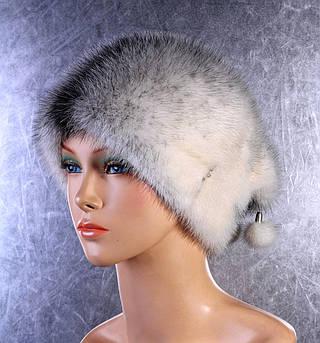 Женская меховая шапка Каре из норки