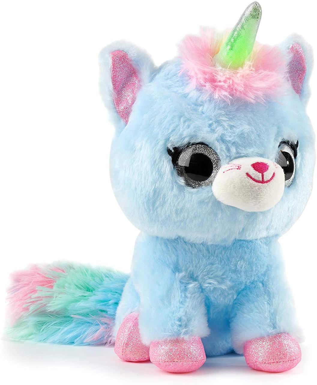 Інтерактивна плюшева іграшка яка весело цілує і світитися бірюзовий WowWee Ploosh Glowcorns