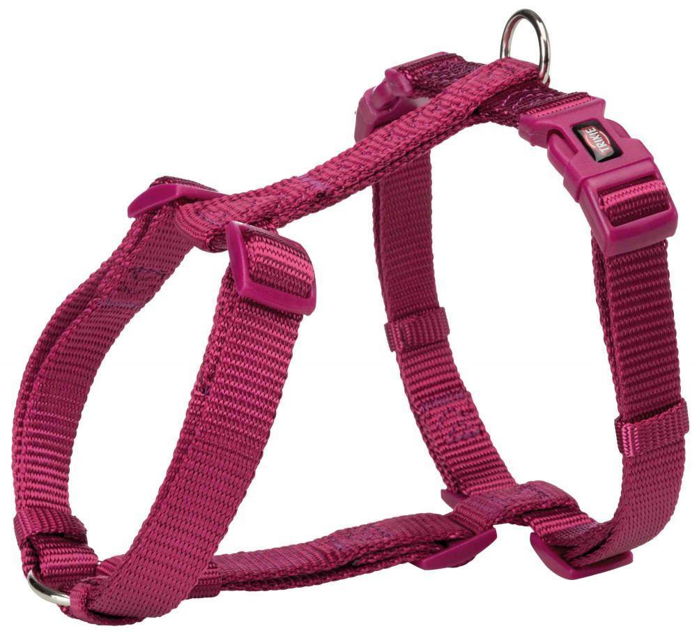 "Шлейка-восьмерка ""Premium"", S-M: 42-60 см / 15 мм, нейлон, ярко-розовая"