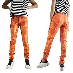 Яркие молодежные джинсы