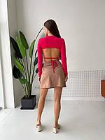 Жіноча кофточка на зав'язках з відкритою спиною