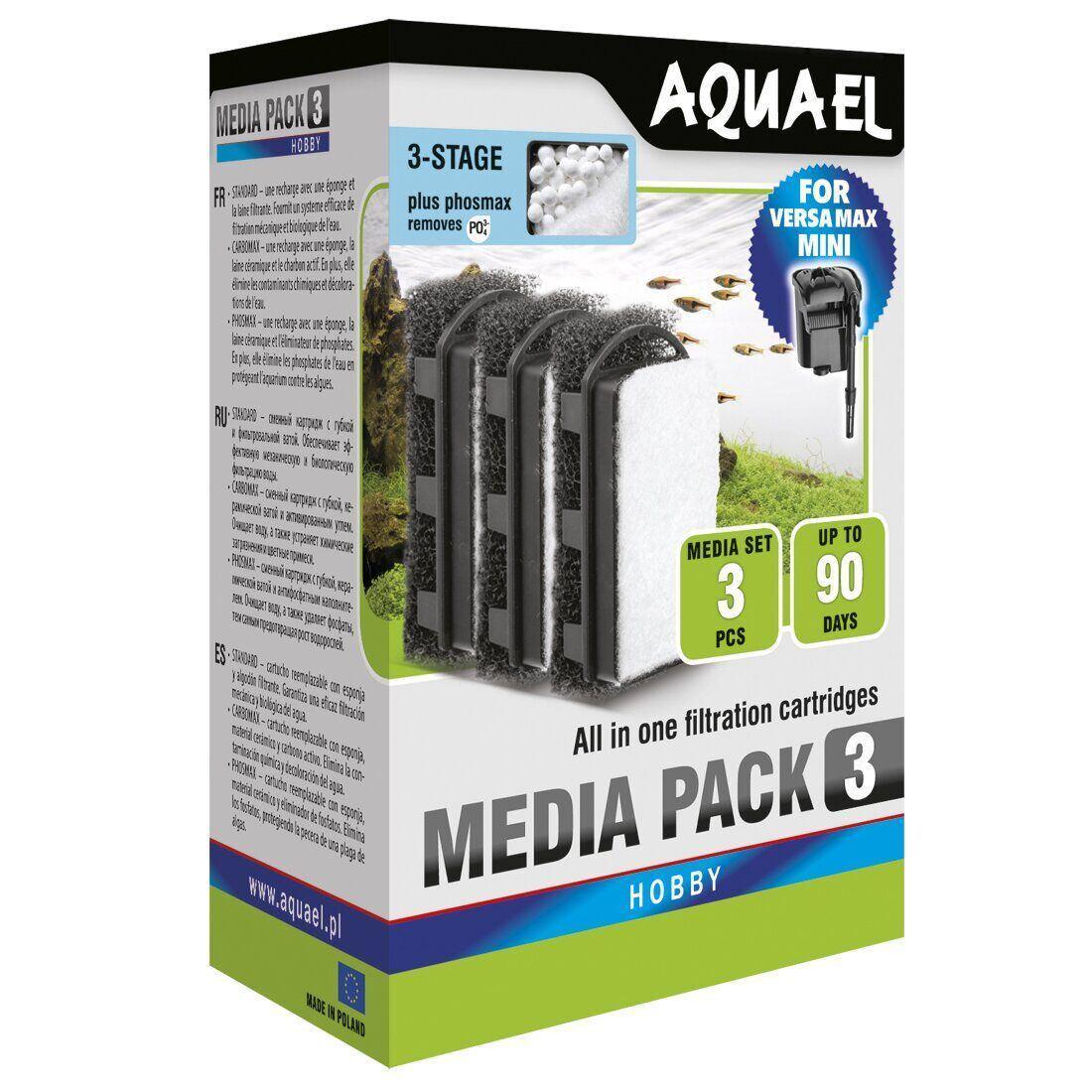 Фильтрующий картридж Aquael «Media Pack PhosMax» 3 шт. (Для навесного фильтра Aquael Versamax-mini)