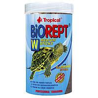 Сухой корм для водоплавающих черепах Tropical в палочках «Biorept W» 250 мл