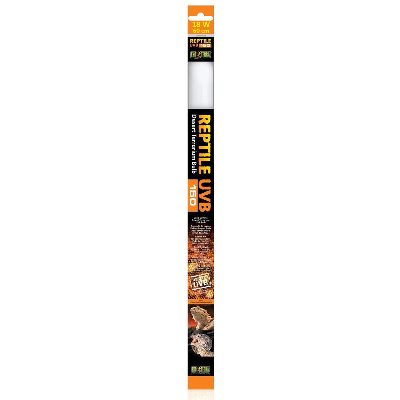 Люминесцентная лампа Exo Terra Reptile UVB 150 для облучения лучами УФ-В спектра 18 W, 60 см, T8 для