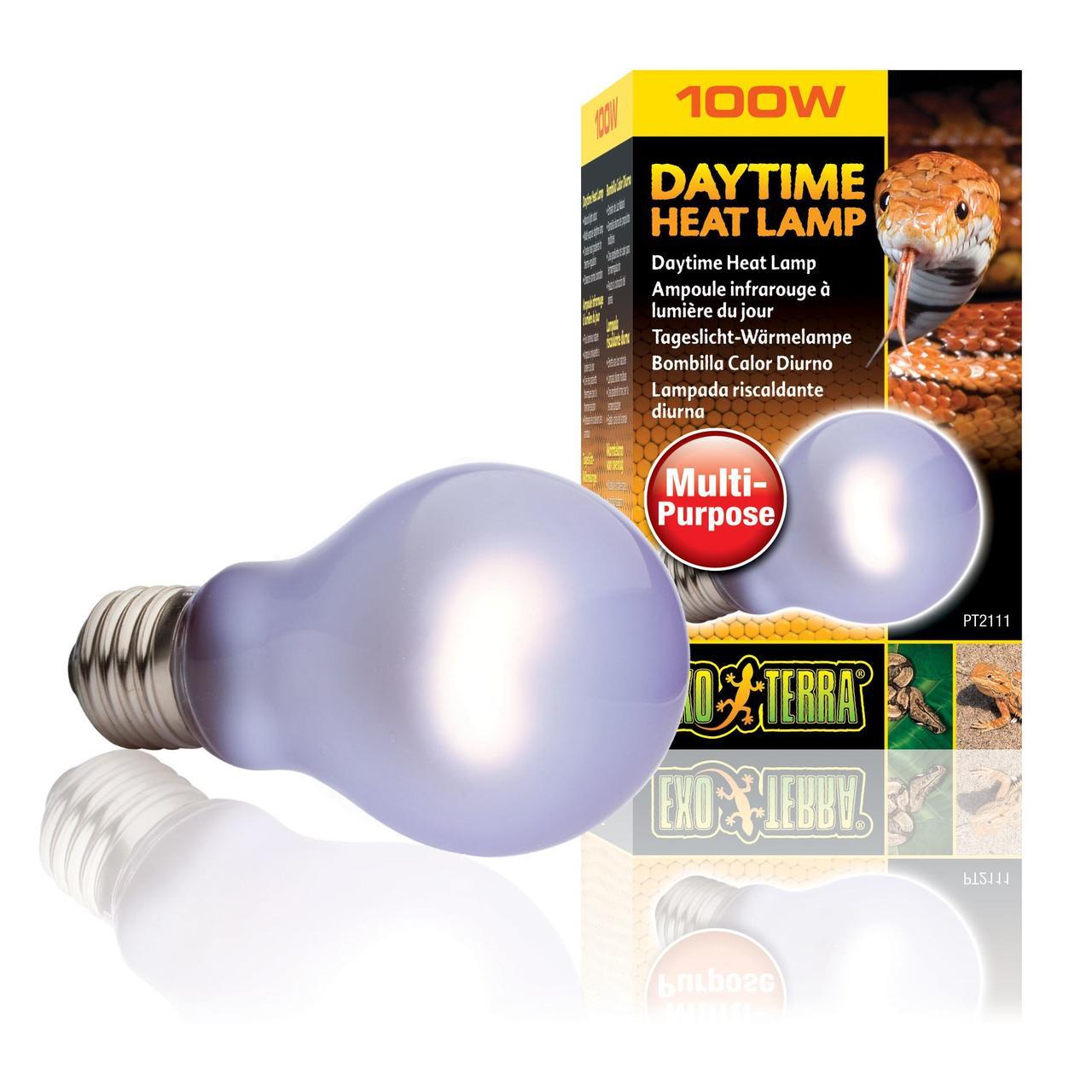Лампа накаливания с неодимовой колбой Exo Terra Daytime Heat Lamp имитирующий дневной свет 100 W, E27 для