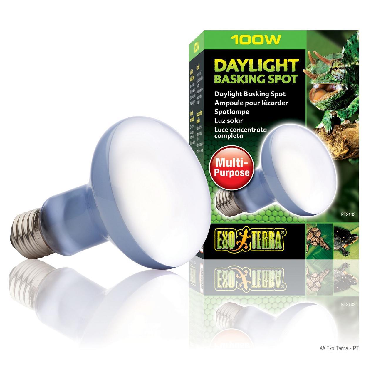 "Лампа накаливания с неодимовой колбой Exo Terra ""Daylight Basking Spot» 100 W, E27 (для обогрева)"