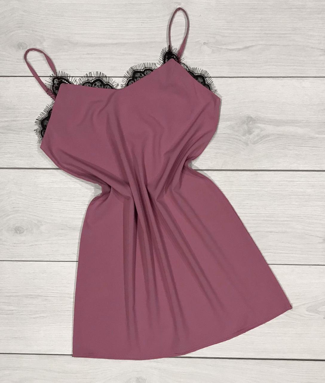 Платье мини с нежным кружевом