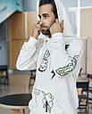 Худи мужской бежевый с принтом от бренда ТУР модель Ковбой, фото 3