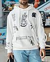 Худи мужской бежевый с принтом от бренда ТУР модель Ковбой, фото 5