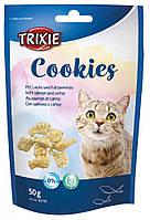 """Печенье для кошек Trixie """"Cookies"""" с лососем и кошачьей / мятой, 50 г"""