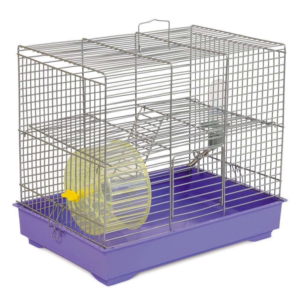 """Клітка для гризунів """"Міккі"""" з колесом хром / чорний 37 * 25 * 30"""