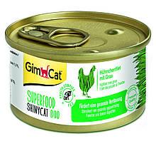 Влажный корм Shiny Cat SUPERFOOD k 70g для кошек курица с травой