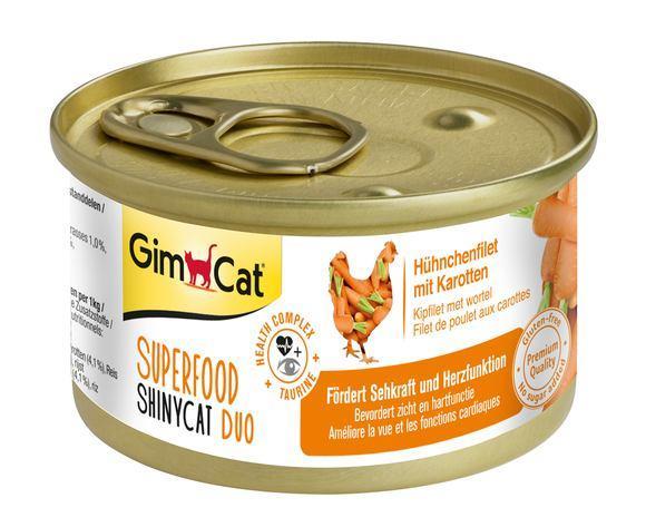 Shiny Cat SUPERFOOD k 70g курка і моркву
