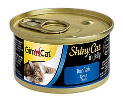 Влажный корм Shiny Cat k 70g тунец для кошек