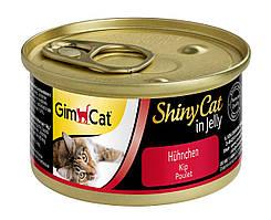 Влажный корм GimCat Shiny Cat k 70g для кошек с курицей