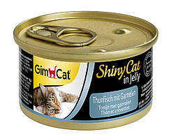 Влажный корм GimCat Shiny Cat k 70 г для кошек тунец и креветки