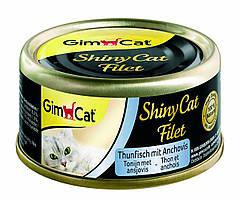 Влажный корм GimCat Shiny Cat Filet k 70g для котов тунец и анчоус