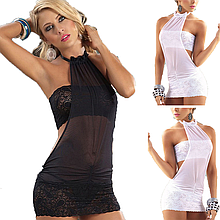 Эротическое белье. Сексуальный комплект. Пеньюар. Платье. Боди Нижнее белье (44 размер размер М) белый