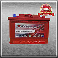 Аккумулятор X-FORCE 62Ah/600A L+ (ИКСФОРС) (6CT- 62Aз 600A L MF) Автомобильный АКБ Турция НДС