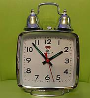 Механические часы PERFECT с будильником серебристые (классика жанра)