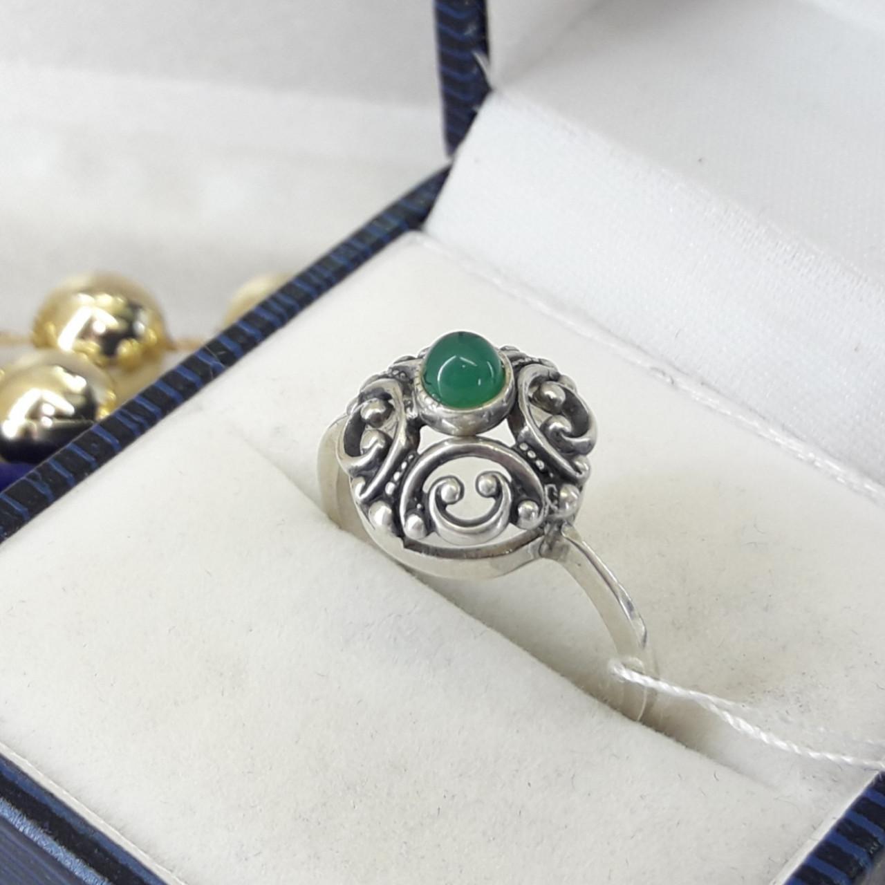 Классическое серебряное кольцо с нефритом