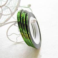 Ногтевой скотч.Цвет Зеленый.Толщина1мм, фото 1