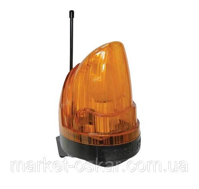 Сигнальная лампа оранжевого цвета с антенной для Faac 740/741