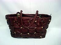Женская бордовая кожаная сумка Salvatore Ferragamo