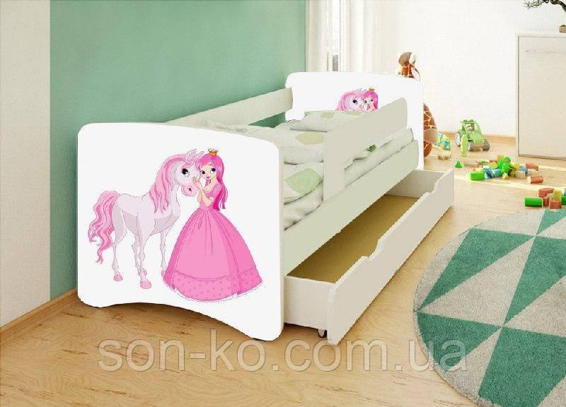 Ліжко дитяче Хепі Бейбі Принцеси Дісней багато малюнків