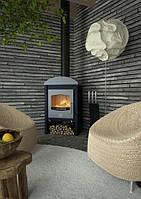 Отопительная печь-камин FLAMINGO STAVANGER серый