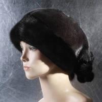 Женская меховая шапка Буше из норки