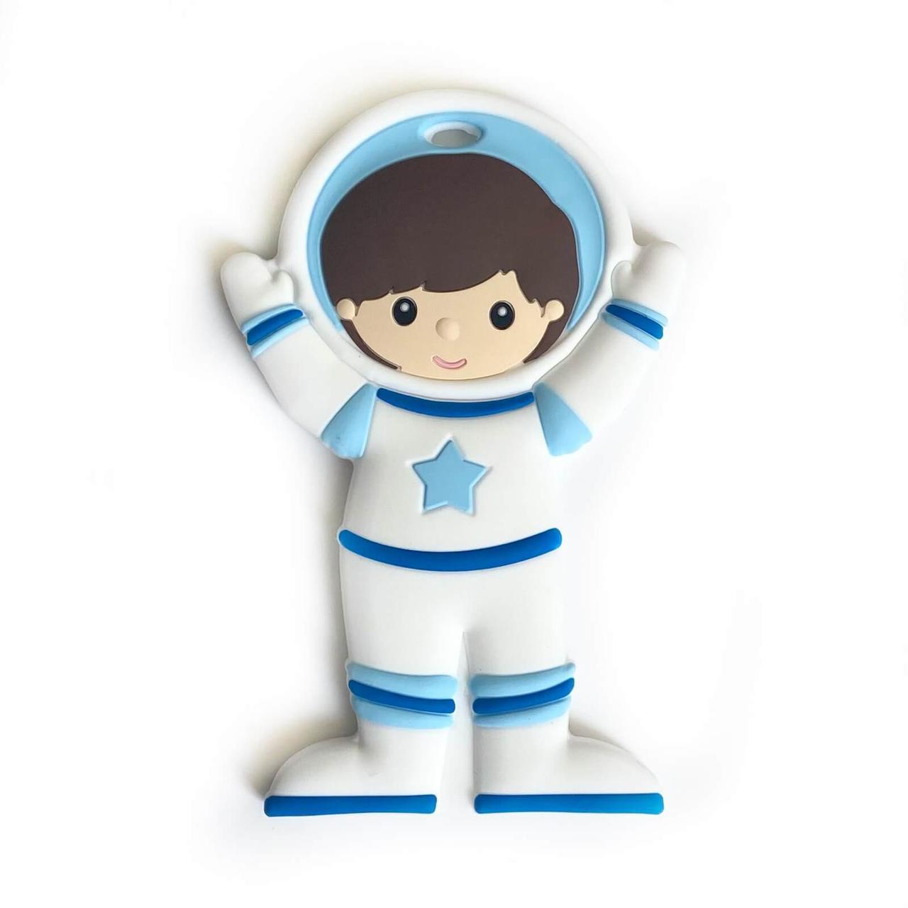 Космонавт (голубой), силиконовый прорезыватель для зубов
