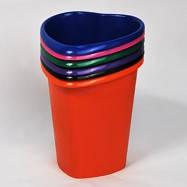 "Корзина  пластиковая для мусора ""Сердце"" , Диаметр - 235мм (черная, цветная)"