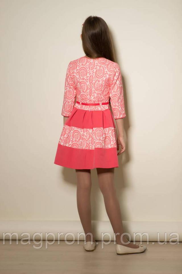 1f571e0fd0a627a Нарядное платье для девочки подростка. Платье из фактурного жаккарда,  нежного сочетания персикового и белого цвета. Изделие комбинированное с  тканью из ...