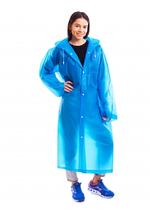 Плащ-дождевик длинный для взрослых на кнопках многоразовый Zelart EVA Синий