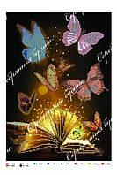 """Схема для вышивки бисером бабочки, А3 """"Волшебная книга"""""""