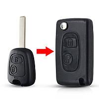 Заготівля ключа для Peugeot 2 кнопки лезо NE72, фото 1
