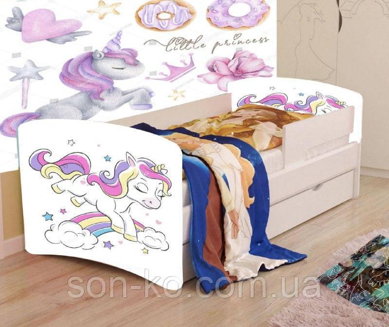 Кровать детская Хепи Бейби Єдинорог. Бесплатная доставка