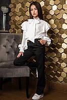 Модная блуза с бантом для девочек на рост от 134 до 164 см, фото 1