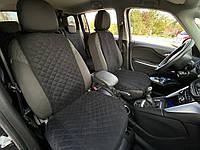 Накидка чехол на сиденья автомобиля из алькантары PREMIUM 1 шт Черная