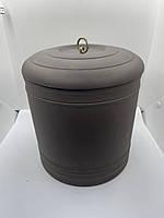 Большая емкость из глины с крышкой ( для чая  пуэра )