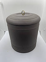 Велика ємність з глини з кришкою ( для чаю пуеру ), фото 1