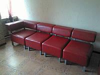 Перетяжка наборного дивана в кож.зам. Днепропетровск