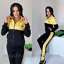 Спортивний костюм жіночий 42-44,46-48,50-52 Зелений,Жовтий,Лаванда, фото 3