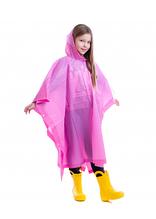 Дождевик детский для девочки Пончо многоразовый C-1020 Фиолетовый