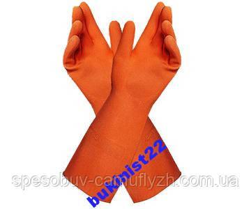 Перчатки химические кислотные усиленые MAPA Industrial 299 Кислотные, Супер стойкие, щелочные размер 9