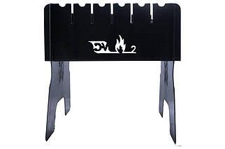 Мангал складаний DV - 2 мм x 6 шп. (Х76), (Оригінал)