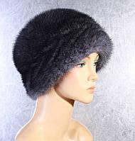 Женская меховая шапка Колосок из норки