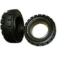 6.50x10 Цельнолитая шина с замком для вилочныx погрузчиков  - ADDO