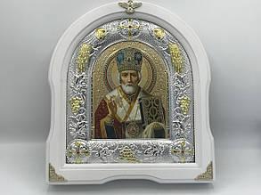 Икона Св. Николая в рамке из дерева